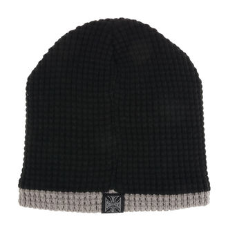 Beanie WEST COAST CHOPPERS - KNITTED - NERO GRIGIO, West Coast Choppers