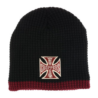 Beanie WEST COAST CHOPPERS - KNITTED - NERO BORDEAUX, West Coast Choppers