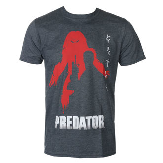 t-shirt film uomo Predator - Dark-Heather - HYBRIS, HYBRIS, Predator