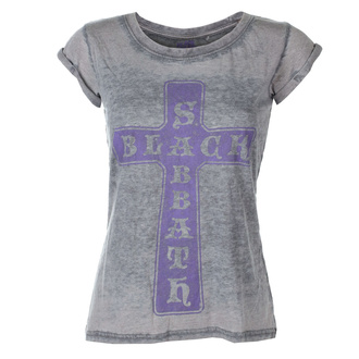 t-shirt metal donna Black Sabbath - Vintage Cross - ROCK OFF, ROCK OFF, Black Sabbath