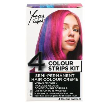 Tinta per capelli  STAR GAZER - Yummy Colour 4 Colour Strips Kit - vivido, STAR GAZER