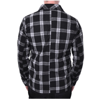 Camicia Chemical black - EZRA - quadri bianchi, CHEMICAL BLACK