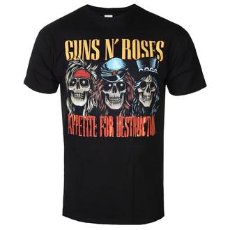 t-shirt metal uomo Guns N' Roses - AFD SKULLS BLK - BRAVADO, BRAVADO, Guns N' Roses