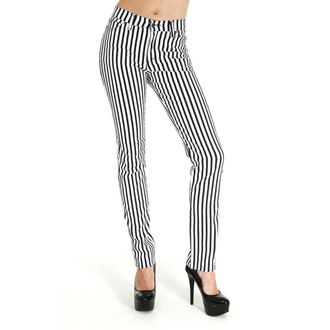 pantaloni (unisex) 3RDAND56th - Striped Skinny - BLK / WHT, 3RDAND56th