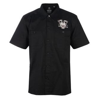 Camicia da uomo BLACK HEART - CHOPPER SKULL - NERO, BLACK HEART