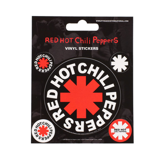 Adesivi RED HOT CHILI PEPPERS - PYRAMID POSTERS, PYRAMID POSTERS, Red Hot Chili Peppers