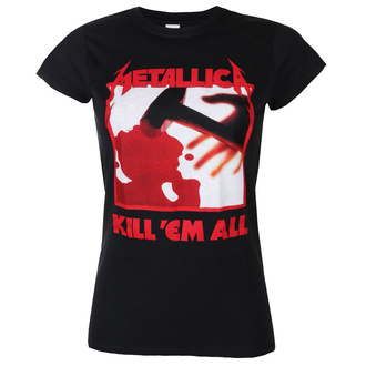 Maglietta da donna METALLICA - KILL EM ALL TRACKS - NERO - PLASTIC HEAD, PLASTIC HEAD, Metallica
