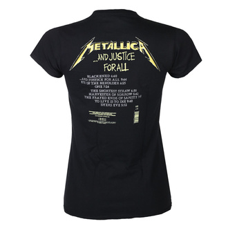 Maglietta da donna METALLICA - AND JUSTICE FOR ALL TRACKS - NERO - PLASTIC HEAD, PLASTIC HEAD, Metallica