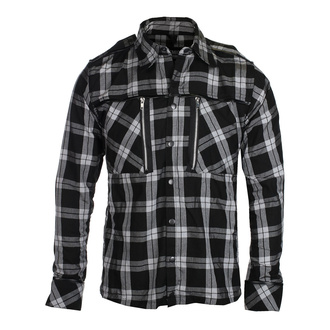 Camicia da uomo Chemical black - EZRA - NERA A QUADRI BIANCHI, CHEMICAL BLACK