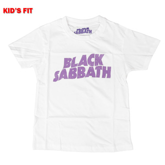 Maglietta da bambini Black Sabbath - Wavy Logo - ROCK OFF, ROCK OFF, Black Sabbath