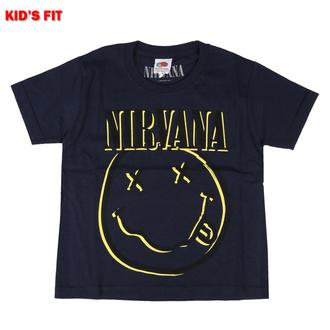 Maglietta da bambini Nirvana - Inverse Smiley - MARINA MILITARE - ROCK OFF, ROCK OFF, Nirvana
