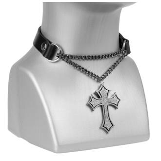 Collare Croce , Leather & Steel Fashion