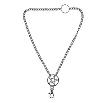 Collana Pentagramma, Leather & Steel Fashion
