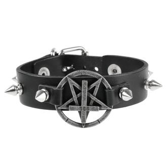 Braccialetto Pentagramma, Leather & Steel Fashion