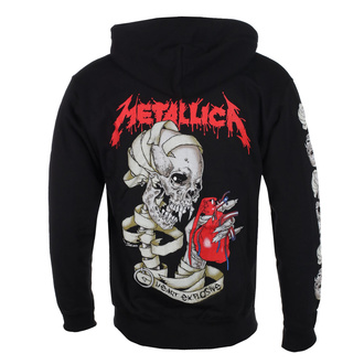 Felpa da uomo con cappuccio Metallica - Heart Explosive, ROCK OFF, Metallica