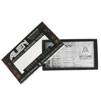 Decorazione Alien - Replica Nostromo Biglietto Edizione Limitata (placcato in argento), NNM, Alien