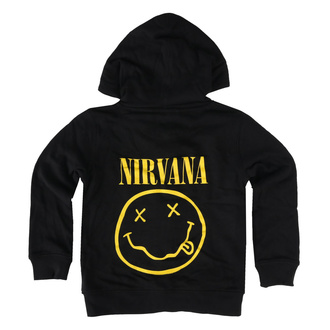 Felpa da bambini con cappuccio Nirvana - Smiley - Metal-Kids, Metal-Kids, Nirvana