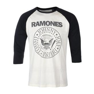 Maglietta da uomo con maniche a 3/4 RAMONES - CLASSIC LOGO - ECRU / NERO RAGLAN2 - GOT TO HAVE IT, GOT TO HAVE IT, Ramones