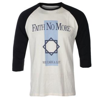 Maglietta da uomo con maniche a 3/4 FAITH NO MORE - WE CARE A LOT - ECRU / NERO RAGLAN - GOT TO HAVE IT, GOT TO HAVE IT, Faith no More