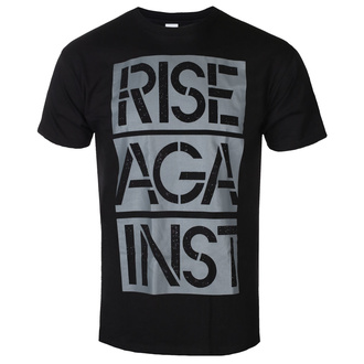 Maglietta da uomo Rise Against - Stacked Ghost Notes Stencil - Nero - KINGS ROAD, KINGS ROAD, Rise Against