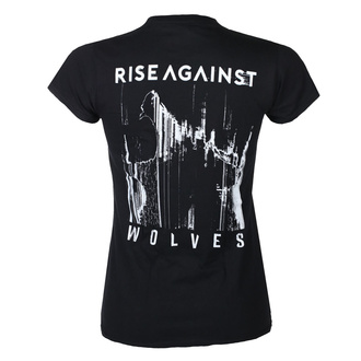 Maglietta da donna Rise Against - Wolves Pocket Girl Fitted - Nero - KINGS ROAD, KINGS ROAD, Rise Against