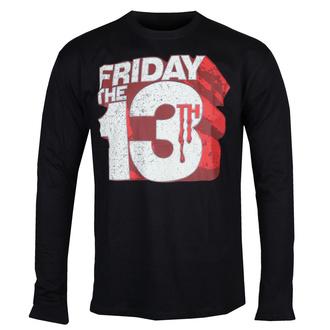 Maglietta da uomo a maniche lunghe Friday The 13th - Block Logo - Nero - HYBRIS, HYBRIS, Friday the 13th