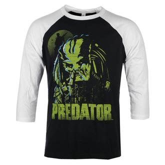 Maglietta da uomo con maniche a 3/4 Predator - Baseball - Bianco nero - HYBRIS, HYBRIS, Predator