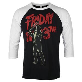 Maglietta da uomo con maniche a 3/4 Friday The 13th - Jason Voorhees - HYBRIS, HYBRIS, Friday the 13th