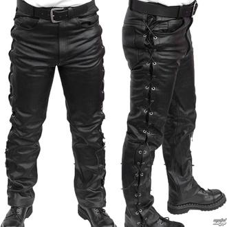 Pantaloni di pelle da uomo MOTOR - MOT003 - DANNEGGIATI, MOTOR