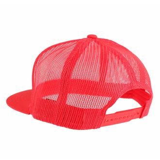 Cappello BLACK HEART - RED SKULL - ROSSO, BLACK HEART