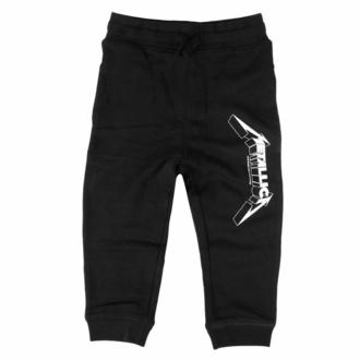 Pantaloni da bambini (pantaloni della tuta) Metallica - (Logo) - nero - bianco - Metal-Kids, Metal-Kids, Metallica