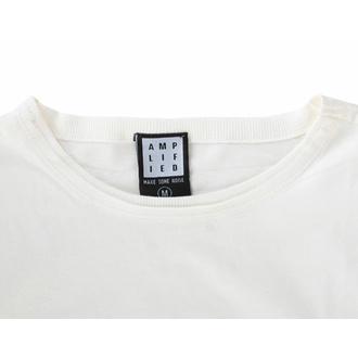 maglietta da uomo IL ROLLING STONES - STEEL RUOTE - VINTAGE BIANCA - AMPLIFIED, AMPLIFIED, Rolling Stones