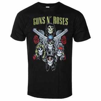 Maglietta da uomo Guns N' Roses - Pistol & Roses - Nero - ROCK OFF, ROCK OFF, Guns N' Roses