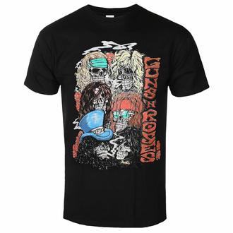 Maglietta da uomo Guns N' Roses - Stacked Skulls - Nero - ROCK OFF, ROCK OFF, Guns N' Roses