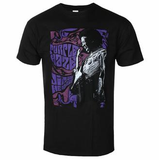 Maglietta da uomo Jimi Hendrix - Purple Haze - Nero - ROCK OFF, ROCK OFF, Jimi Hendrix