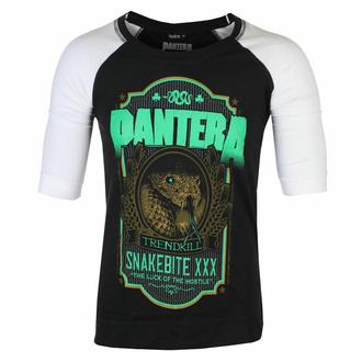 Maglietta unisex con maniche a ¾ Pantera - Snakebite  - XXX Label - Nero / bianca Raglan - ROCK OFF, ROCK OFF, Pantera