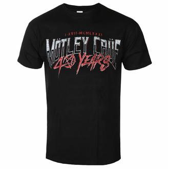Maglietta da uomo Mötley Crüe - 40 Years F&B - Nero - ROCK OFF, ROCK OFF, Mötley Crüe