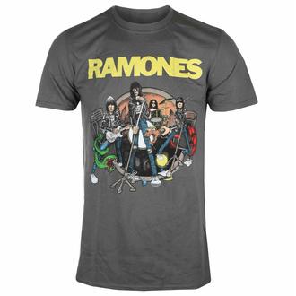 Maglietta da uomo Ramones - Road To Ruin - Carbone - ROCK OFF, ROCK OFF, Ramones