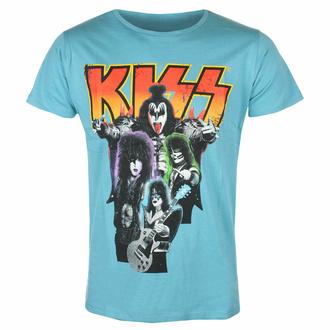 Maglietta da uomo Kiss - Neon Band - BLU - ROCK OFF, ROCK OFF, Kiss