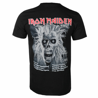 Maglietta da uomo Iron Maiden - First Album Tracklist V3 BL - ROCK OFF, ROCK OFF, Iron Maiden