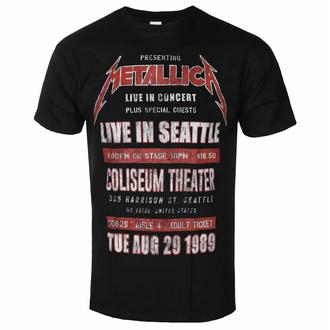 Maglietta da uomo Metallica - Seattle '89 BL ECO - ROCK OFF, ROCK OFF, Metallica