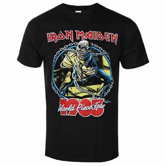 Maglietta da uomo Iron Maiden - World Piece Tour '83 V2 BL - ROCK OFF, ROCK OFF, Iron Maiden