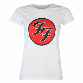 Maglietta da donna Foo Fighters - Logo WHT - ROCK OFF, ROCK OFF, Foo Fighters