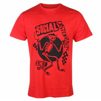 Maglietta da uomo Social Distortion - Speakeasy Checkerboard ROSSO - ROCK OFF - SOCTS05MR