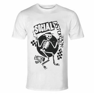Maglietta da uomo Social Distortion - Speakeasy Checkerboard WHT - ROCK OFF - SOCTS05MW