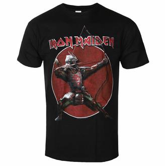Maglietta da uomo Iron Maiden - Eddie Archer Red Cricle BL - ROCK OFF - IMTEE135MB