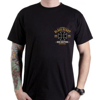 t-shirt street uomo - WHISKERY - BLACK HEART, BLACK HEART