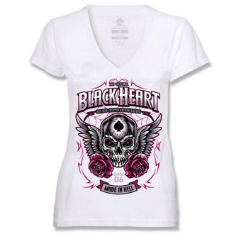 t-shirt street donna - ROYAL - BLACK HEART, BLACK HEART