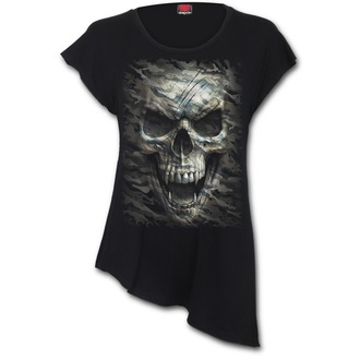 t-shirt donna - CAMO-SKULL - SPIRAL, SPIRAL