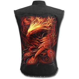 Camicia da uomo senza maniche SPIRAL - PHOENIX ARISEN - Nero